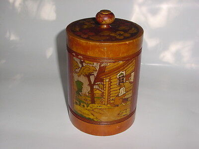Antique Victorian Cigar Humidor ..... Hand Painted
