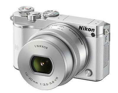Nikon 1 J5 Mirrorless Digital Camera with 10-30mm Lens ( White )