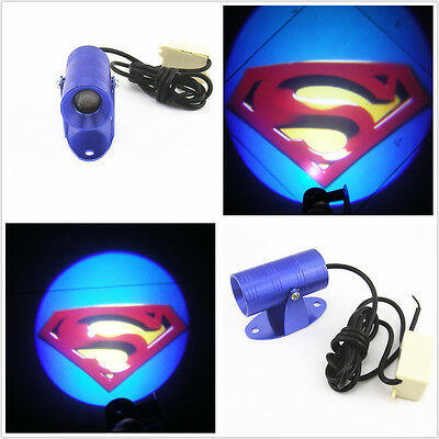 Ghost Shadow Rider Motorcycle LED Laser Superman Logo Projector Light For Suzuki