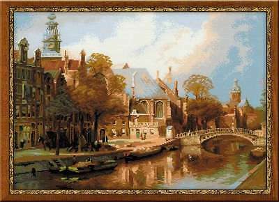 """Counted Cross Stitch Kit RIOLIS - """"Amsterdam. The Old Church"""""""