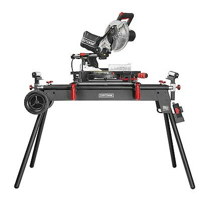 Craftsman Deluxe Professional Heavy Duty Mobile Miter Saw Stand Universal Wood