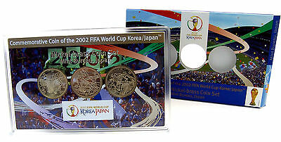 Japan 3 x 500 YEN Gedenkmünzen 2002 Stgl. FIFA World Cup: Fussball Korea & Japan