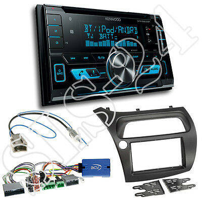 Honda Civic VIII Type R S ab06 2-DIN Radioblende+Adapter+Kenwood DPX5000BT Radio