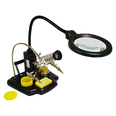 Elenco ZD-10Y Soldering Station-LED Magnifier-3rd Helping Hand