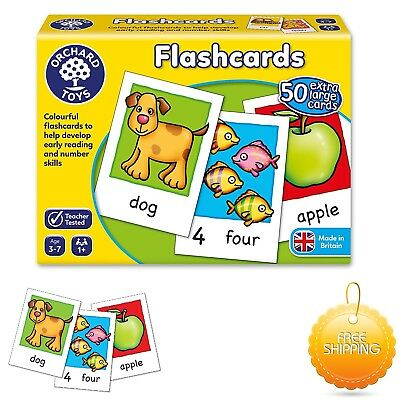 Educational Flash Cards NEW Game Orchard Toys Baby Toddler Child Numbers Reading