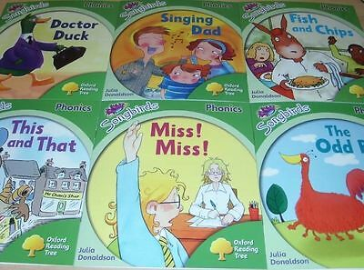 Oxford Reading Tree Stage Level 2 Songbirds Phonics 6 books NEW Julia Donaldson