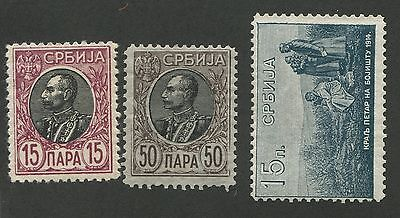 Serbia Mint Set 3 Stamps
