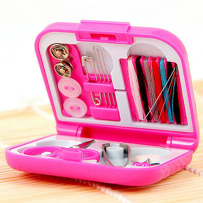 Portable Mini Cute Travel Sewing Kits Box Needle Threads DIY Home Tools