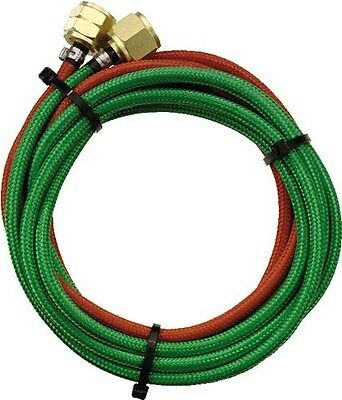Gentec Little Torch Braided Green Oxygen and Red Gas Replacement Hose 6ft