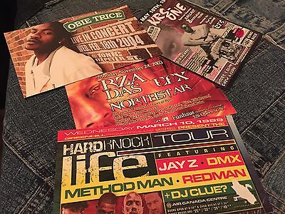 Original Krs1, Das-Efx Jay Z, Method Man, Rza Hip Hop Flyer Cards 1997-2003