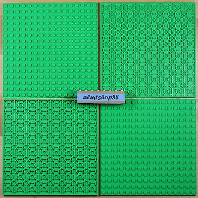 "LEGO - 16x16 Dots (5""x5"") Bright Green Baseplate Lot 91405 Thick Base Plate Flat"