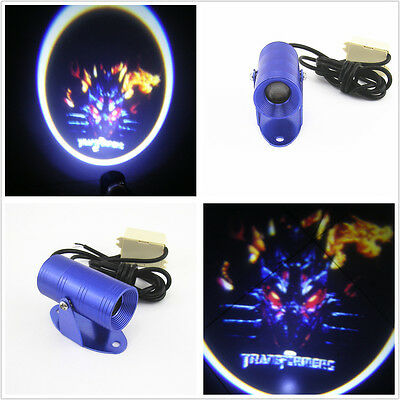Motorcycle Transformers Logo Ghost Shadow Projector LED Laser Light For Suzuki