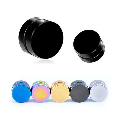 8mm Stainless Steel Magnetic Ear Stud Men Women Clip On Non-Pierced Earring Gift