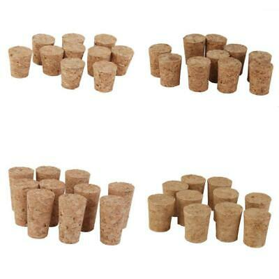Set 10 TAPERED WINE CORK BUNG BOTTLE STOPPERS HOME BREW CRAFT ARTS ASSORTED