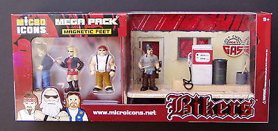 Bikers - 4 Micro Icons Mega Packs of Biker figures - about 1:32 scale, wholesale