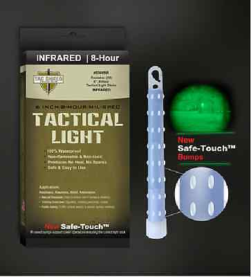 Tac Shield Tactical Light / Glow Sticks for Night Vision 8Hrs INFRARED Box of 10