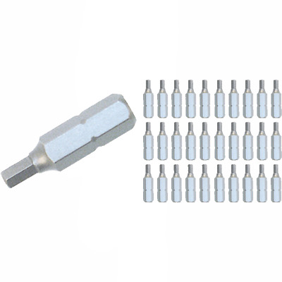 Wiha 72583 2.5mm Hex Contractor Insert Bit (30 Piece Bulk Pack)