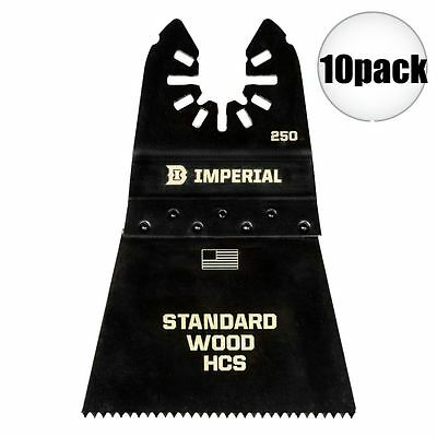 "Imperial Blades 10pk ONE FIT 2-1/2"" 12T Wood Oscillating Blade IBOA250-10 New"