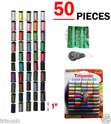 Sewing Kit Thread Spool Thread Helper Needle Fix Repair Travel Kit - 50 pc