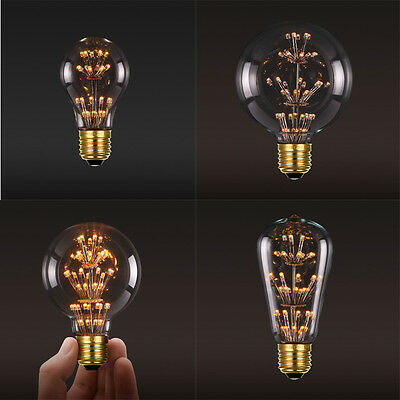 220V/3W Retro Style LED Edison Bulbs E27 Screw Xmas Fireworks Decorative Lamp