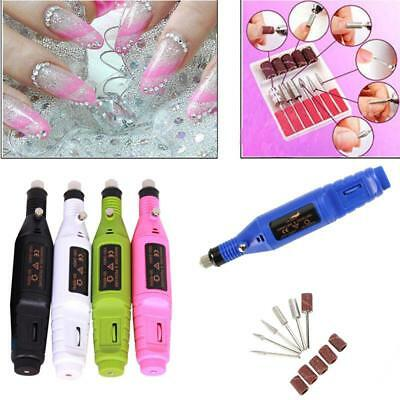 Finger Toe Electric Nail Drill Machine Manicure Pedicure Kit File Drill Care AU