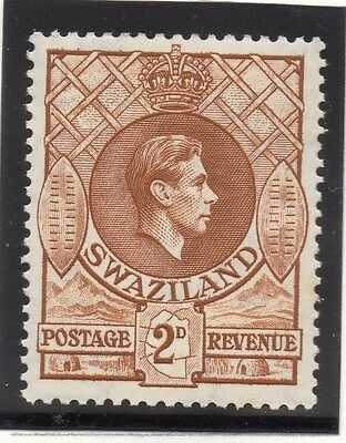 Swaziland 1938 Early Issue Fine Mint Hinged 2d. 033828
