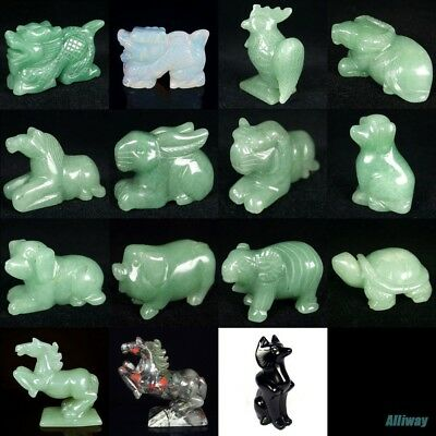 similar carved kinds of animals statue natural gemstone stone craft collectible