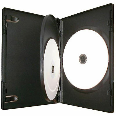 CD DVD 14mm Black DVD 3 Way Case for 3 Disc 1 5 10 25 50 100