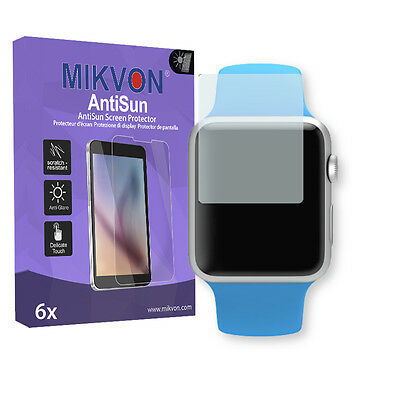 6x Mikvon AntiSun Screen Protector for Apple Watch Sport 38mm Retail Package