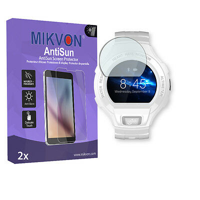 2x Mikvon AntiSun Screen Protector for Alcatel OneTouch Go Watch Retail Package