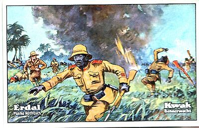 xxxRARE ORIG BIG GERMAN AD CARDS w BLACK SOLDIERS in WW1 COLONIAL AFRICA BATTLES