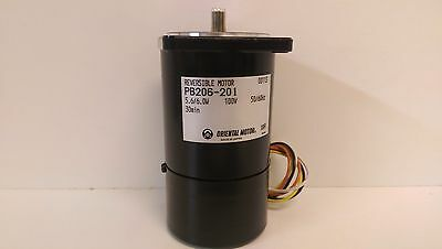 New Old Stock! Oriental Motor Reversible Motor 100V 50/60Hz Pb206-201