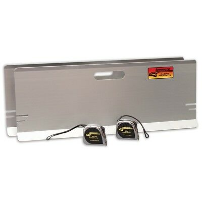 Longacre Racing 79501 Toe-In Plates w/ Magnets Aluminum Plates w/ Tape Measure