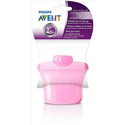 Avent - Milk Powder Dispenser - Pink - 3 compartments - Brand New