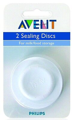 Avent - Sealing Discs x2 For Milk or Storage - Fits All Avent Cups & Bottles