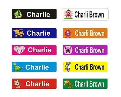 36 Personalised Kids Name Labels, Stickers, Book Tags, School, Childcare, toys 2