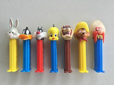 PEZ - Retired Warner Brothers Set of 7 - Mint