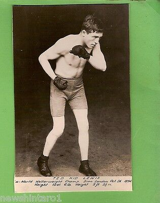 #l129.  Boxing Fan Card - Ted Kid Lewis, Ex-World Welterweight Champion