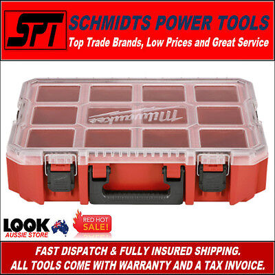 "Milwaukee 48-22-8030 Heavy Duty Parts Organiser 20"" Stackable Parts Storage Box"
