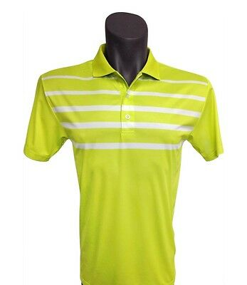 NEW Onyx Golf  Mens Golf Shirt / Golf Polo - Noosa Lime/White - Size Large