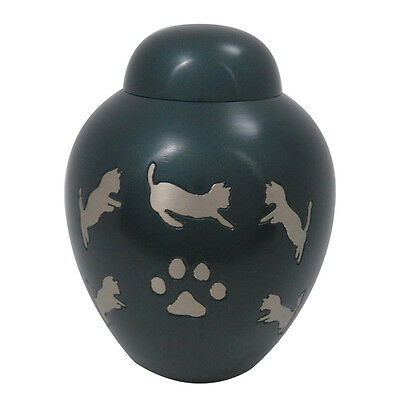 Pet Funeral Ashes, Smaller Dark Slate Dome Top Cremation Urn • EUR 58,02