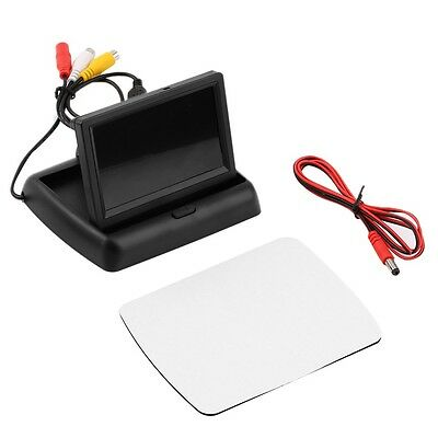 4.3'' LCD TFT Foldable Color Monitor Screen For Car Reverse Rearview Camera FE