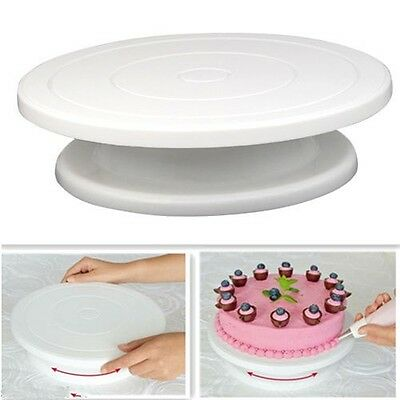 1pcs Cake Decorating Revolving Rotating Icing Kitchen Display Turntable Stand