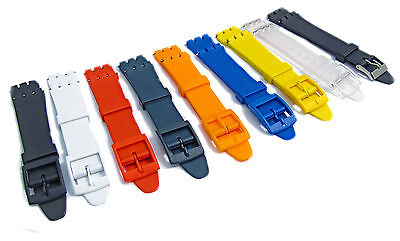 Resin Watch Band Strap to fit Standard Swatch Watch 17mm choice of colours D027