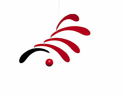 Flensted Flowing Rhythm Red Modern Hanging Baby Mobile