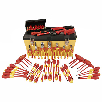 Wiha 32876 Insulated Set with Pliers, Cutters, Nut Drivers, Screwdrivers
