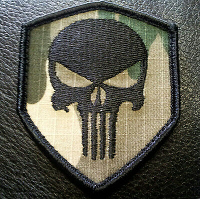 Punisher Tactical Combat Seal Team  Multicamo 3 Inch Hook Patch