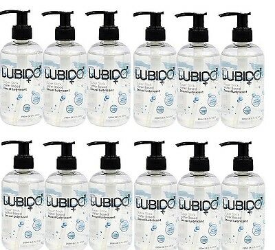 12 x 250ml Lubido Lube Vaginal Water-Based Intimate Lubricant  Free Post