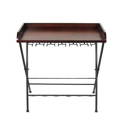 Legacy Home LTD 31.5 x 31.5 in. Wood Serving Tray Table With Metal Legs