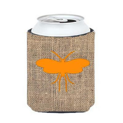 Carolines Treasures BB1058-BL-OR-CC Moth Burlap And Orange Can Or Bottle Hugger